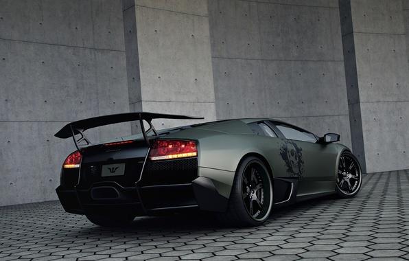 Картинка тюнинг, зад, Lamborghini, Wheelsandmore, Murcielago, SuperVeloce, LP720-4