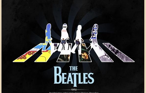 Картинка Abbey Road, The Beatles, Rock, Paul McCartney, John Lennon, обложки альбомов, Ringo Starr, John Harrison