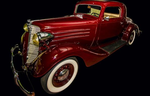 Картинка ретро, купе, автомобиль, 1935, Nash