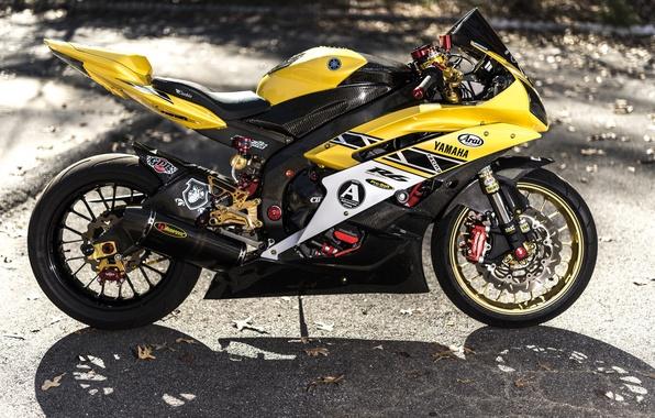 Картинка дизайн, фон, мотоцикл, Yamaha, спортбайк