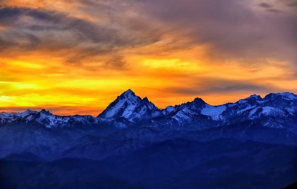 Картинка sunset, dusk, Fire and Ice, Table Mountain