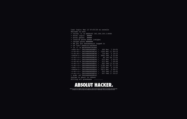 Картинка Буквы, Надпись, Абсолют, Слова, Black, Hacker, Хакер, Absolut