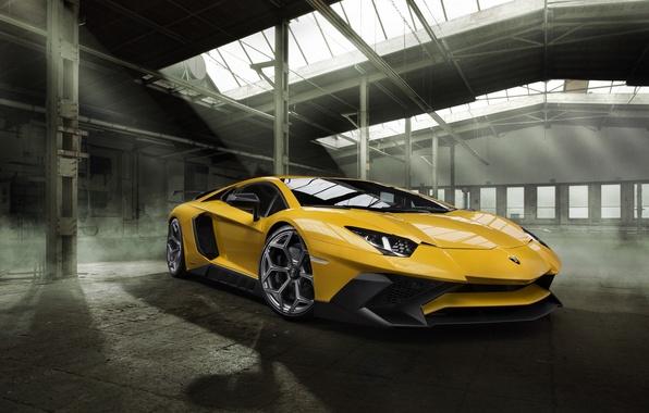 Картинка car, машина, Lamborghini, wallpaper, auto, yellow, beautiful, передок, Aventador, Novitec, Torado, LP 750-4