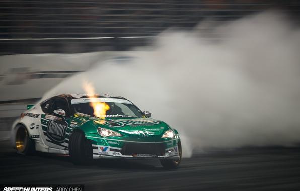 Картинка дым, скорость, занос, трек, Formula Drift