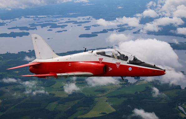 Картинка полет, ландшафт, кабина, штурмовик, самолёт, реактивный, Hawk, учебно-тренировочный, лёгкий, дозвуковой