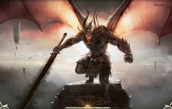 Картинка монстр, меч, демон