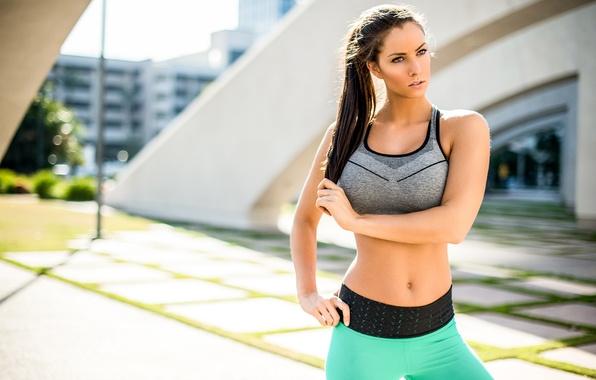 Картинка лето, девушка, лицо, фигура, фитнес, Janna Breslin