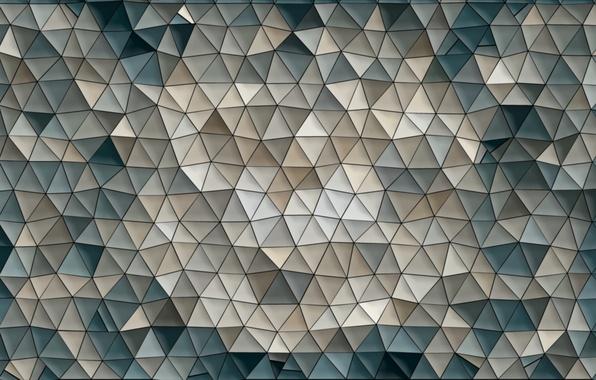 Картинка мозаика, фон, абстракции, обои, узор, цвет, фигуры, треугольник, Треугольники