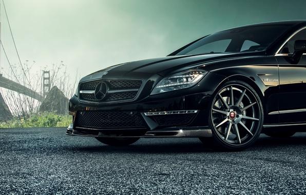 Картинка черный, Mercedes-Benz, колесо, диск, седан, мерседес, AMG, Black, Sedan, C218, CLS 63, 2015, CLK-Class