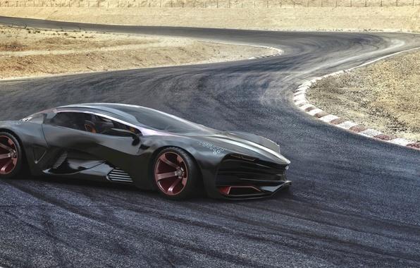 Картинка Concept, Авто, Трэк, Концепт, Фары, Car, Lada, Суперкар, Лада, Supercar, Track, Raven, Равен