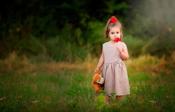 Картинка игрушка, мак, девочка