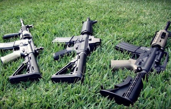 Картинка травка, m4a1, ar-15, Автоматы, штурмовые винтовки