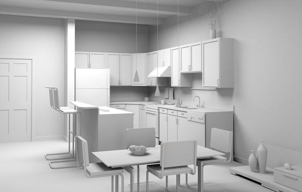 Картинка дизайн, стиль, комната, мебель, интерьер, кухня, светлый фон, проект