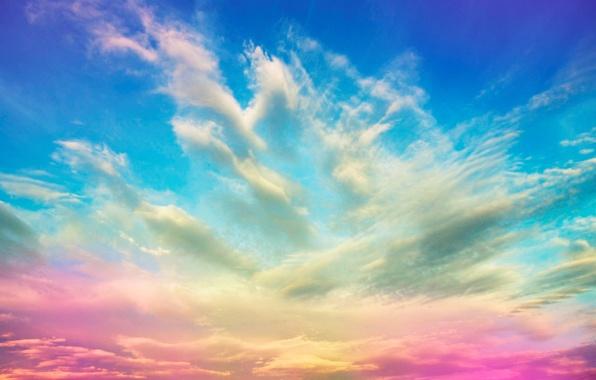 Картинка небо, облака, цвет