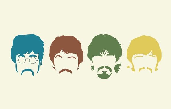 Картинка музыка, минимализм, группа, The Beatles