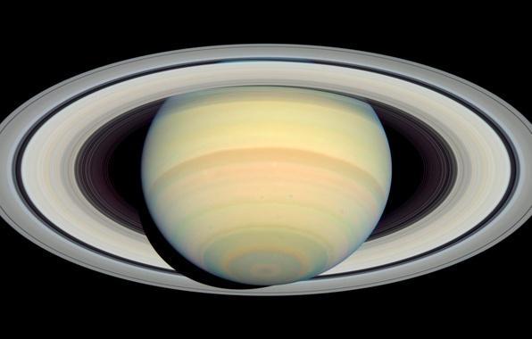 Фото обои фото, планета, Сатурн, орбита, Saturn, наса, Cassini, кассини