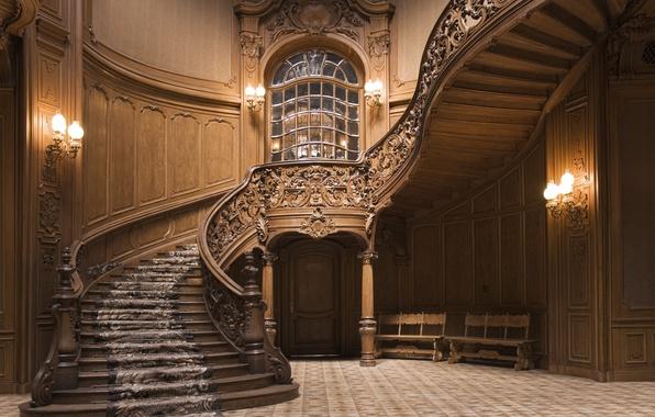 Картинка design, wood, staircase, decoration