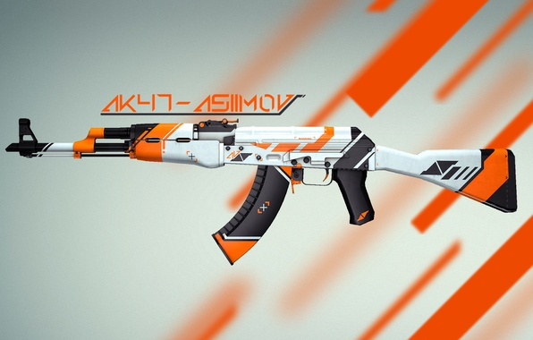 Картинка Оружие, Gun, Valve, Counter Strike, Steam, Skin, Weapon, CS:GO, Global Offensive, Workshop, AK-47|Asiimov, Asiimov, Coridium