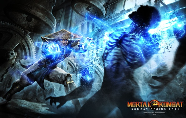 Картинка fight, mortal kombat, raiden