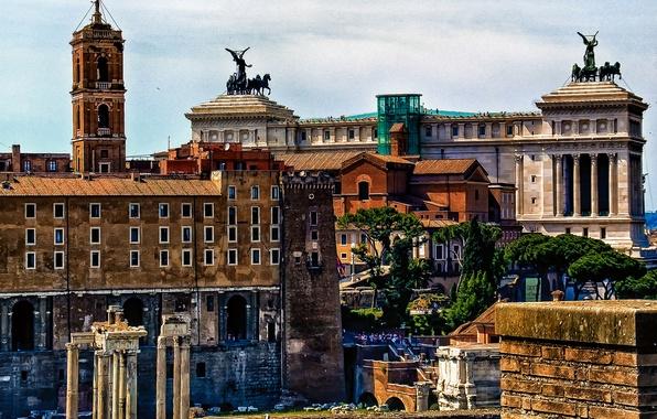 Картинка Рим, Италия, форум, Витториано