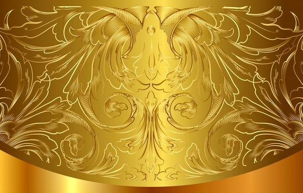 Картинка фон, золото, узор, vector, golden, орнамент, vintage, background, pattern, gradient