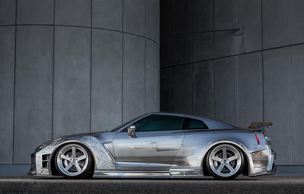Фото обои Kuhl, side, Racing, view, Nissan, GTR
