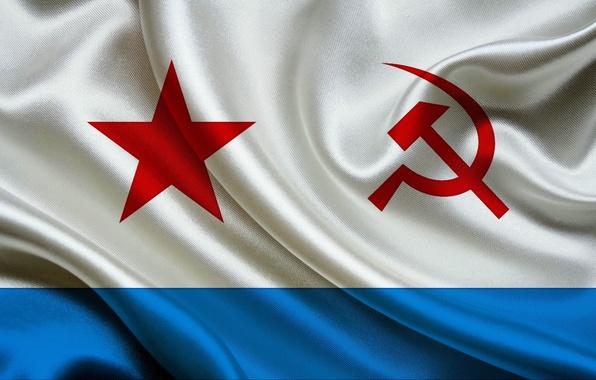 Картинка фон, widescreen, обои, флаг, wallpaper, USSR, СССР, ВМФ, широкоформатные, background, flag, полноэкранные, HD wallpapers, широкоэкранные, …