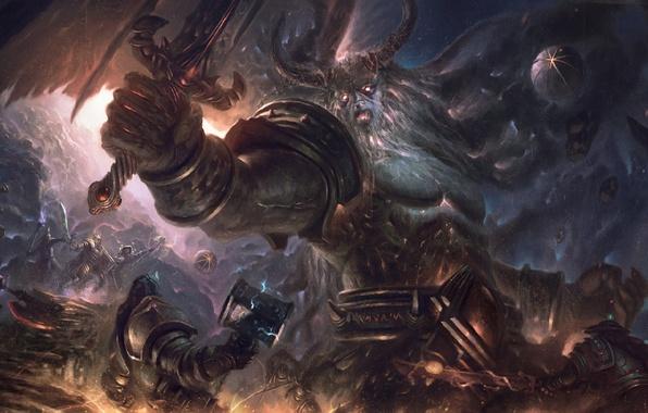 Картинка World of Warcraft, warcraft, art, orc, titan, sargeras
