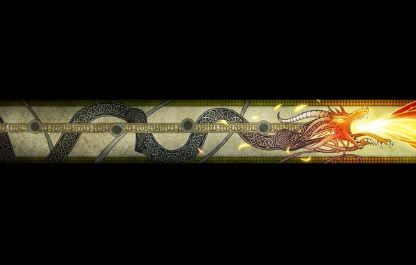 Картинка Дракон, Пламя, Art, Black, Текстуры, Wallpaper, Обои На Рабочий Стол, Counter-Strike: Global Offensive, CS GO, …