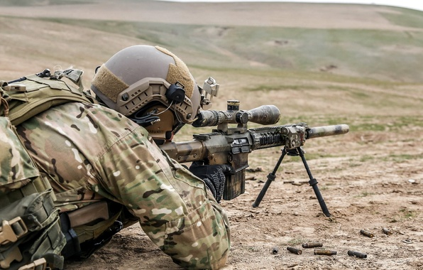 Картинка Afghanistan, United States Spec Ops, SR-25 Sniper Rifle