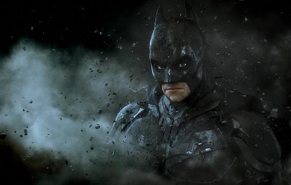 Картинка камни, маска, арт, костюм, Бэтмен, мужчина, Batman