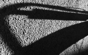 Картинка свет, линии, стена, настроение, текстура, Тень, черно-белое, геометрия, штукатурка