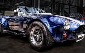 Картинка Cobra, Cabrio, Classic Car, Blau