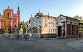 Картинка улица, здания, Словения, Любляна, Ljubljana