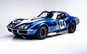 Картинка Corvette, Chevrolet, шевроле, 1968, Convertible, корветт, Race Car, L88