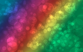 Картинка круги, абстракция, узоры, краски, радуга, colors, точки, rainbow, circles, patterns, 1920x1200, боке, bokeh, abstraction, dots