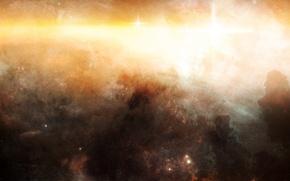 Картинка свет, nebula, звездное скопление, межзвездный газ