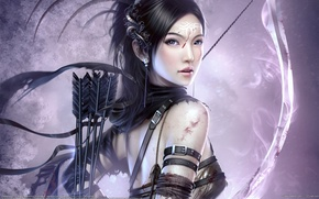 Картинка девушка, лук, лучница