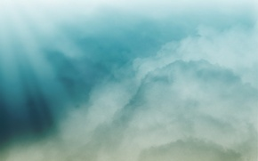 Обои цвет, минимализм, Облака