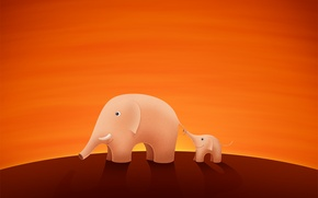Картинка слон, хобот, слоник