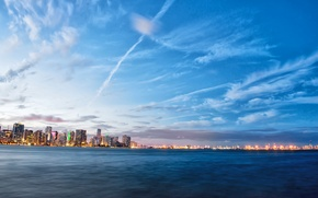Картинка огни, Майами, вечер, Флорида, Miami, florida, vice city