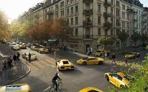 Обои Клоны, 149, Lamborghini, желтые