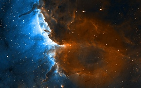 Картинка космос, звезды, туманность, звездообразование, хаббл