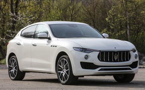 Картинка белый, природа, Maserati, Кроссовер, 2017, Levante