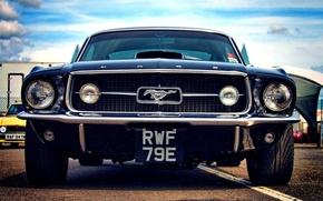 Картинка Mustang, мустанг, мощь, muscle car, американская, 1968, pony car, олдтаймер