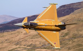 Картинка истребитель, кабина, пилот, полёт, многоцелевой, Eurofighter Typhoon