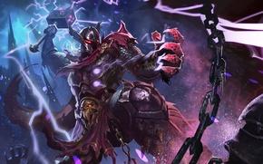 Картинка hon, art, Heroes of Newerth, Thunderbringer, Dark Lightning lord