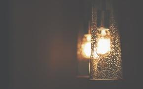 Картинка light, gold, night, lamp