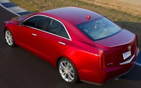 Обои седан, дорога, Cadillac, ATS