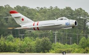Картинка истребитель, реактивный, советский, МиГ-17